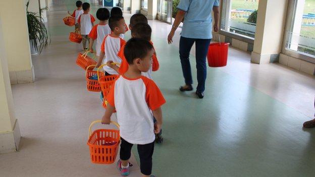 Children at boarding school
