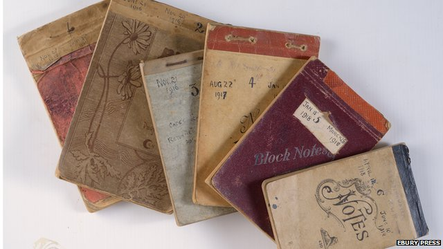 Harry Drinkwater's diaries record accounts of his World War I experience. The entries were written in six notebooks.