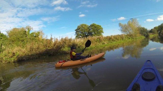 Jenny Allen kayaking