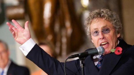 The Who's Roger Daltrey performs in Statuary Hall on Capitol Hill in Washington, on 30 October 2013