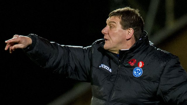 St Johnstone boss Tommy Wright