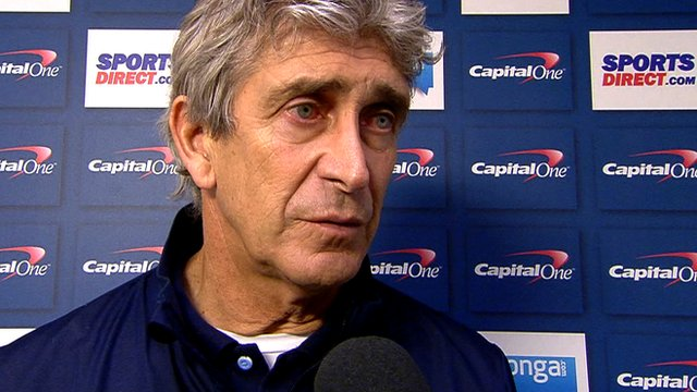 Manuel Pellegrini discusses Manchester City's 2-0 League Cup win at Newcastle