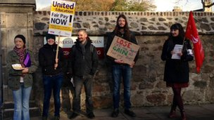 Demonstrators in Aberdeen