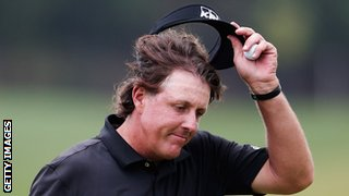 Phil Mickelson of United States after the first round of the WGC-HSBC Champions at the Sheshan International Golf Club in Shanghai