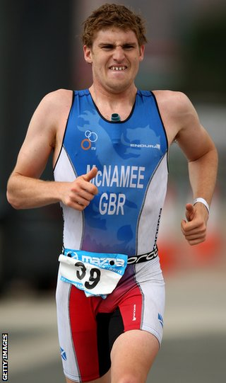 Triathlete David McNamee