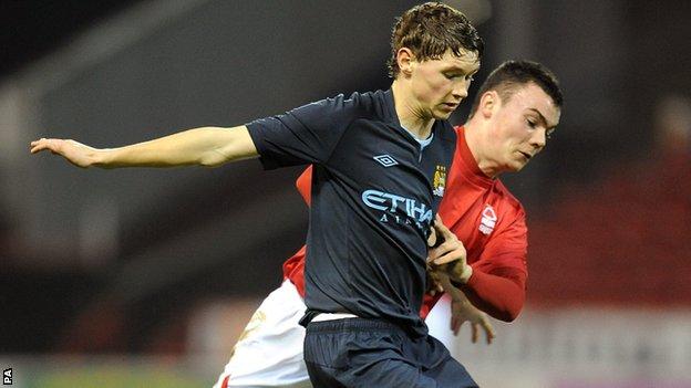 Manchester City midfielder George Evans