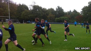 England Rugby Union training