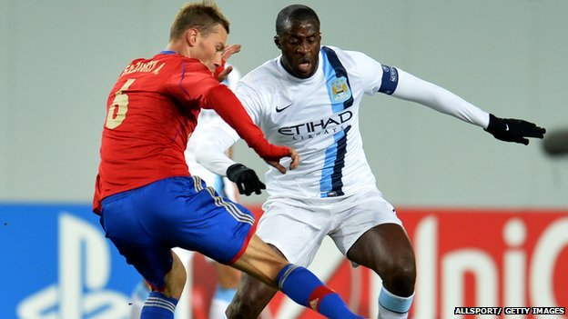 Yaya Toure playing against CSKA Moscow