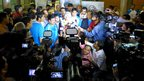 The Queen's Baton Relay arrives in amid a media scrum India