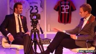 David Beckham and Dan Walker