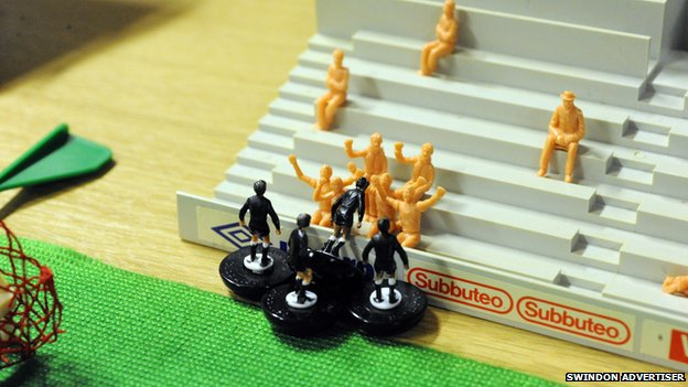 The Swindon Advertiser's Subbuteo pitch