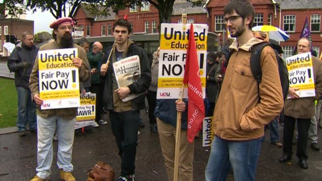 Strike at Welsh University