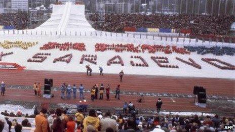 Sarajevo Olympics opening ceremony