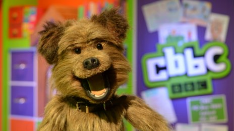 Hacker in the CBBC studio