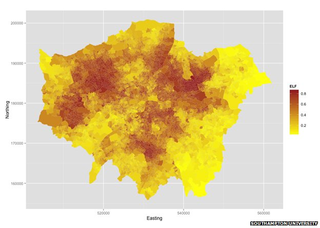 Diversity map of London