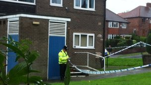 Police cordon around the scene
