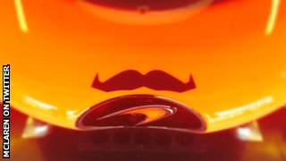McLaren have a moustache on the nose of their cars in a nod to Movember