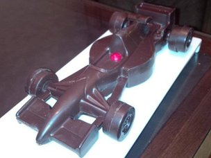 Formula 1 car made of chocolate