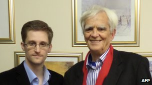 Hans-Christian Stroebele and Edward Snowden