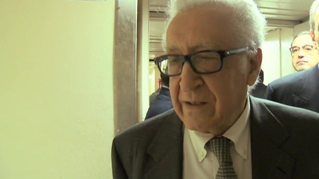 UN and Arab League special envoy Lakhdar Brahimi