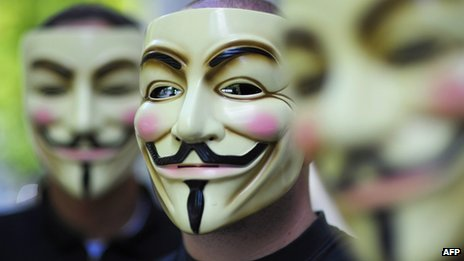 File photo: Anonymous activists