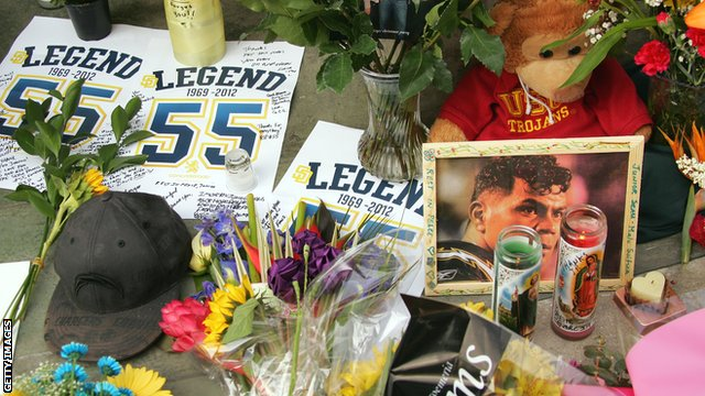 Tributes for NFL star Junior Seau