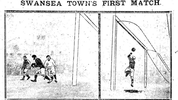 Swansea Daily Post image of the 1912 derby