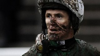 AP McCoy covered in mud