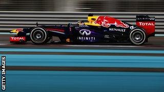 Sebastian Vettel in Abu Dhabi