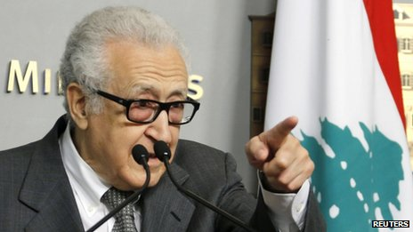UN-Arab League envoy Lakhdar Brahimi in Beirut. Photo: 1 November 2013