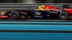 Sebastian Vettel powers to the fastest lap time of the day in Abu Dhabi