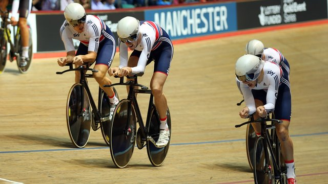 Great Britain's men's team pursuit squad