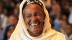 A woman laughing in Addis Ababa, Ethiopia - Thursday 31 October 2013