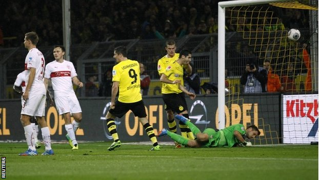 Robert Lewandowski scores