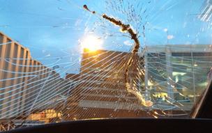 Charlie Hilbrant's windscreen