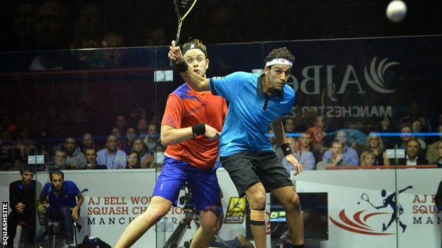 James Willstrop (left) and Mohamed Elshorbagy