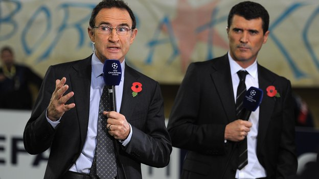 Martin O'Neill (left) and Roy Keane