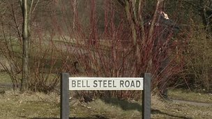 Bell Steel Road sign