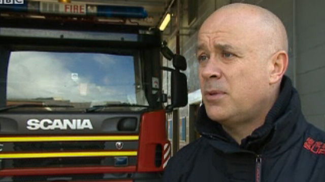 Cerith Griffiths, secretary of the Fire Brigades Union in Wales