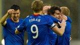 Inverness players celebrating
