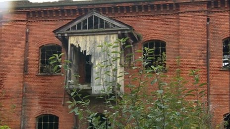 A derelict warehouse in Derby