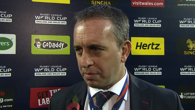 England Rugby League head coach Steve McNamara