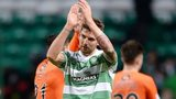 Celtic's Charlie Mulgrew celebrates his late equaliser