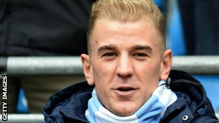 Joe Hart watches on as Manchester City win 7-0 against Norwich