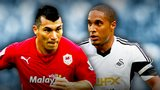 Cardiff's Gary Medel, Swansea's Ashley Williams
