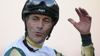 Mucho Macho Man gave jockey Gary Stevens, 50, his first win in the Breeders. Cup Classic - America's richest race.