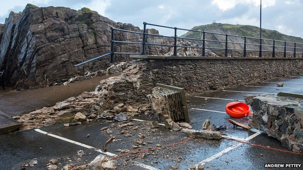 Landslide damage, Ilfracombe, 2 November 2013