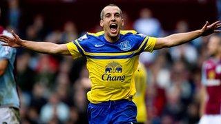 Leon Osman scores against Aston Villa