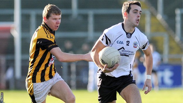 Kilcoo's Ryan Johnston and Crossmaglen's Martin Aherne
