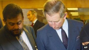 Chowdhury Mueen-Uddin and Prince Charles in 2003